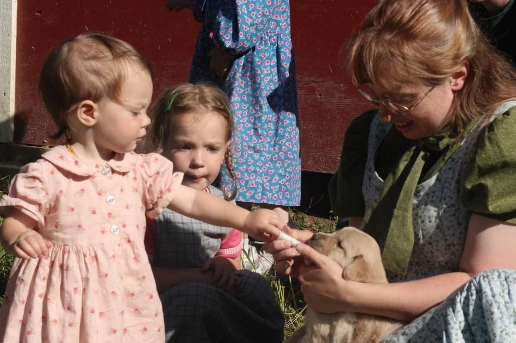 All of the children had a turn helping to administer dewormer to our puppies